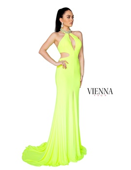 Style 8402 Vienna Green Size 12 Tall Height Cut Out Side slit Dress on Queenly