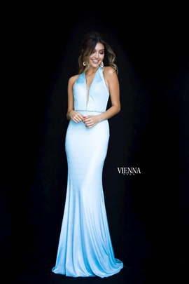 Queenly size 12 Vienna Blue Mermaid evening gown/formal dress