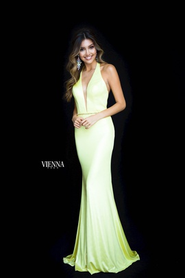 Queenly size 00 Vienna Yellow Mermaid evening gown/formal dress