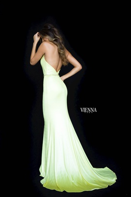 Style 8462 Vienna Yellow Size 4 Backless Tall Height Mermaid Dress on Queenly