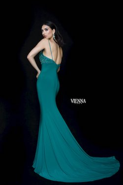 Style 8466 Vienna Green Size 10 Backless Tall Height Mermaid Dress on Queenly