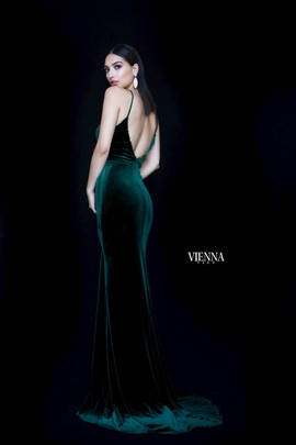 Style 8468 Vienna Green Size 0 Backless Mermaid Dress on Queenly