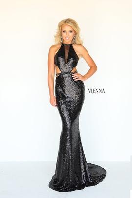 Queenly size 12 Vienna Black Mermaid evening gown/formal dress