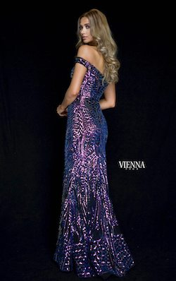 Style 8821 Vienna Purple Size 0 Straight Dress on Queenly