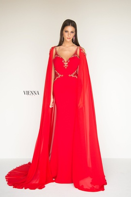Style 9962 Vienna Red Size 6 Cut Out Straight Dress on Queenly