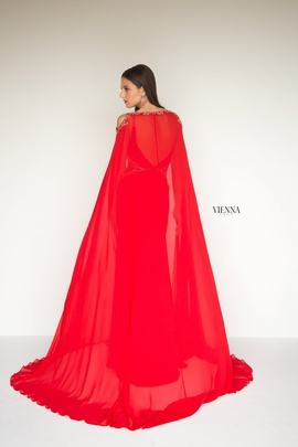 Style 9962 Vienna Red Size 4 Backless Tall Height Straight Dress on Queenly