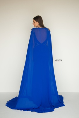 Style 9962 Vienna Blue Size 6 Backless Tall Height Straight Dress on Queenly
