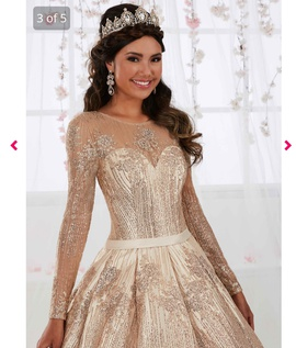 Tiffany Designs Gold Size 2 Pageant Quinceanera Ball gown on Queenly