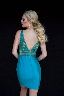 Style 6133 Vienna Green Size 2 Tall Height Cocktail Dress on Queenly