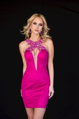 Style 6146 Vienna Pink Size 2 Mini Cocktail Dress on Queenly