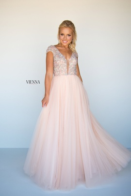 Style 9955 Vienna Gold Size 0 Pageant Tulle Tall Height Straight Dress on Queenly