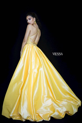 Style 9984 Vienna Yellow Size 12 Quinceanera Plus Size Ball gown on Queenly