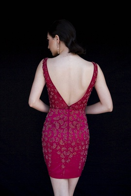 Style 6126 Vienna Red Size 2 Tall Height Cocktail Dress on Queenly