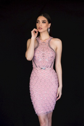 Queenly size 6 Vienna Pink Cocktail evening gown/formal dress