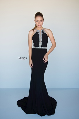 Style 8432 Vienna Black Size 2 Backless Tall Height Mermaid Dress on Queenly