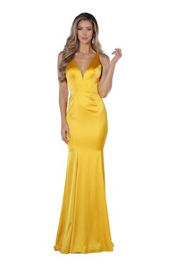 Style 84000 Vienna Yellow Size 2 Plunge Straight Dress on Queenly