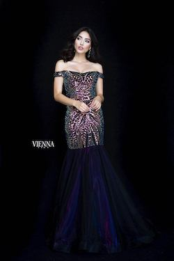Queenly size 00 Vienna Purple Side slit evening gown/formal dress