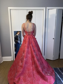 Sherri Hill Pink Size 6 Prom Plunge Ball gown on Queenly