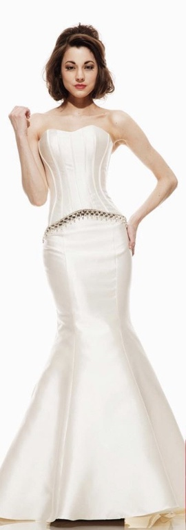 Johnathan Kayne White Size 4 Wedding Pageant Strapless Mermaid Dress on Queenly