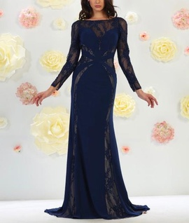 May Queen Blue Size 4 Backless Ball gown on Queenly