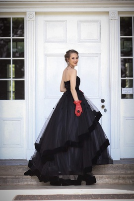 Mac Duggal Black Size 0 Prom Tulle Ball gown on Queenly