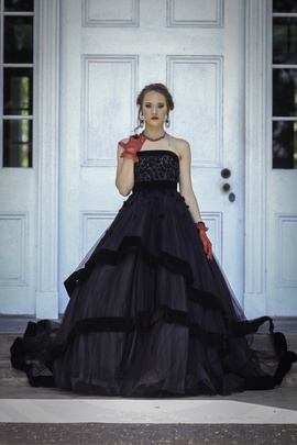 Queenly size 0 Mac Duggal Black Ball gown evening gown/formal dress