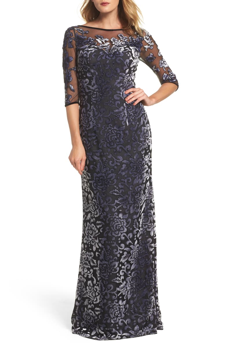 La Femme Multicolor Size 12 Sheer Straight Dress on Queenly