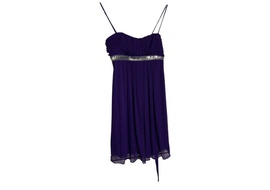 Queenly size 12  Purple A-line evening gown/formal dress