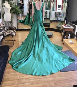 Mac Duggal Green Size 6 Tall Height Mini Train Dress on Queenly