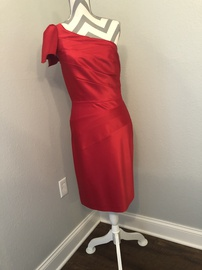 Queenly size 6 Antonio Melani Red Cocktail evening gown/formal dress