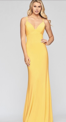Queenly size 2 Faviana Yellow Mermaid evening gown/formal dress