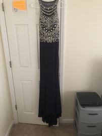 Queenly size 4 Tiffany Designs Blue Straight evening gown/formal dress