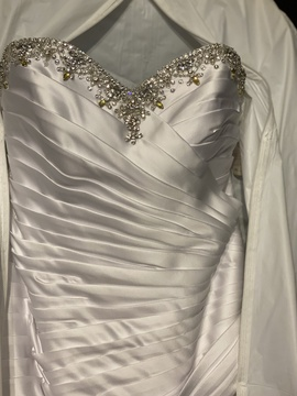 Moonlight White Size 14 Wedding Strapless Plus Size Mermaid Dress on Queenly