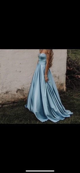 Mori Lee Light Blue Size 0 Prom Ball gown on Queenly
