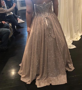 Jovani Gold Size 18 Prom A-line Dress on Queenly