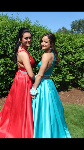 Sherri Hill Blue Size 0 Prom Ball gown on Queenly