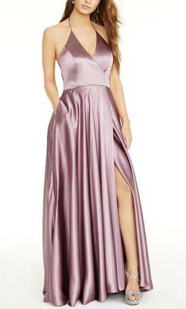 Queenly size 6 Blondie Nites Purple Side slit evening gown/formal dress