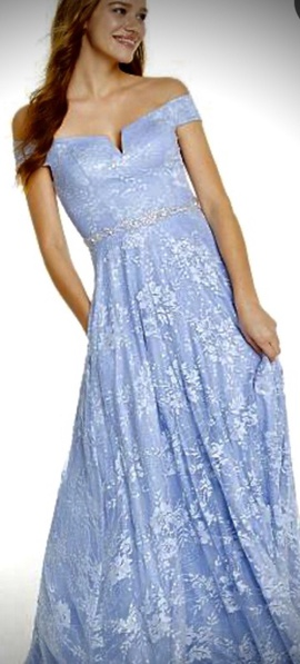 Queenly size 14 Say Yes to the Prom Blue Ball gown evening gown/formal dress