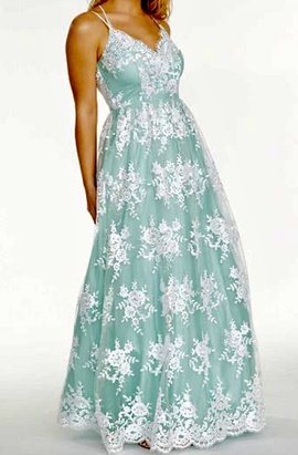 Queenly size 16 Say Yes to the Prom Green Ball gown evening gown/formal dress