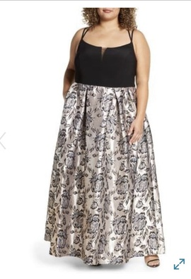Queenly size 14 RM Richards Black Ball gown evening gown/formal dress