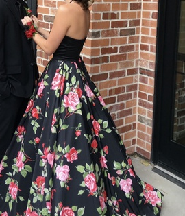 Sherri Hill Multicolor Size 2 Prom Floral Halter Ball gown on Queenly