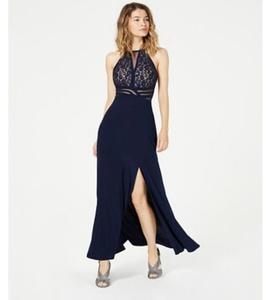 Queenly size 6  Blue Side slit evening gown/formal dress
