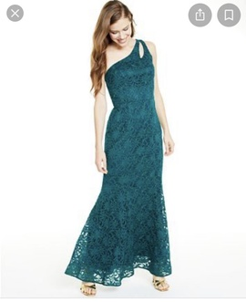 Queenly size 12 BCX Green Mermaid evening gown/formal dress