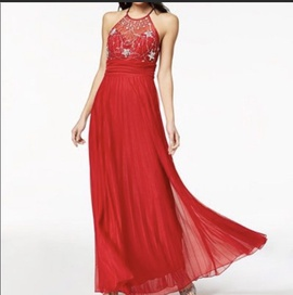 Queenly size 6  Red Straight evening gown/formal dress
