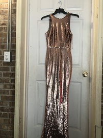 Maniju Rose Gold Size 4 Pageant Mermaid Dress on Queenly