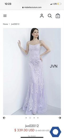 Jovani Light Purple Size 6 Prom Mermaid Dress on Queenly
