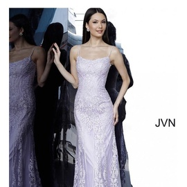 Jovani Light Purple Size 6 Corset Lace Mermaid Dress on Queenly