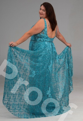 Panoply Blue Size 24 Overskirt Plunge Straight Dress on Queenly