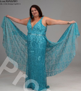 Queenly size 24 Panoply Blue Straight evening gown/formal dress