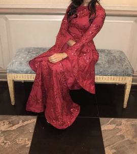 Custom made Red Size 6 A-line Dress on Queenly